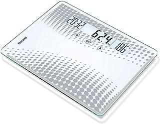 بيورير - ميزان ديجيتال زجاجي موديل (GS 51 XXL) - أبيض