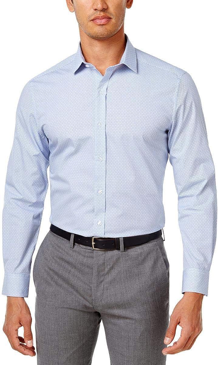Bar III Mens Printed Slim Fit Dress Shirt