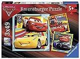 Ravensburger-Puzzle 3 x 49 Piezas, Cars 3, (8015)