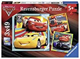 Ravensburger Kinderpuzzle 08015 - Bunte Flitzer - 3 x 49 Teile