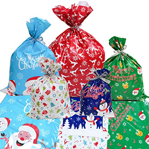 QISF 30 bolsas de regalo para Navidad, bolsas de papel de al