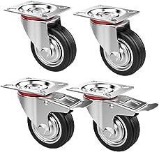 Yaheetech 4 stuks transportwielen, meubelwielen, loopwielen, zware zwenkwielen, zwenkwielen, zwenkwielen, draagkracht max....