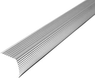 M-D Building Products 43309 M-D Fluted Stair Edging Transition Strip, 36 in L, Aluminum, Prefinished, Satin, quot, Silver