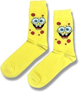Sarı Sünger Desenli Unisex Diz Altı Çorap