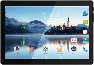 Huashe 10 inch 3G Unlocked GSM Phone Call Android Tablet Eight Core IPS Screen Dual Sim Card Slots Dual Cameras GPS WiFi Bluetooth (Metallic Black)