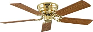 Casafan 5132001 Flat 132-III MP Ventilador de techo, aspas envejecido de roble/haya