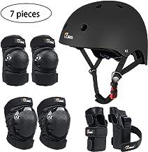 مجموعه دنده های محافظ سری JBM Child & Adults Rider برای روروک مخصوص بچه ها ، اسکیت بورد ، دوچرخه سواری ، اسکیت غلتکی ، محافظت از مبتدی تا پیشرفته ، کلاه ایمنی ، زانو و آرنج پد با نگهبانان مچ دست