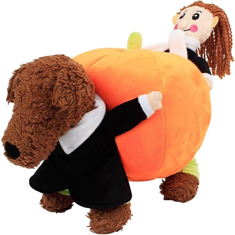 Seipe Pet Halloween Funny Carrying Pumpkin Costumes Puppy Pumpkin Clothes