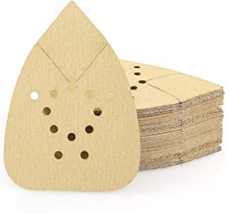 Sanding Pads for Black and Decker Mouse Sanders by LotFancy, 50PCS 60 80 120 150 220 Grit Sandpaper Sheets Assortment - Ho...