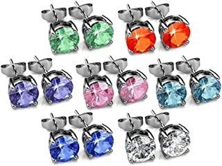 d82a9bebb Yellow Chimes Crystals from Swarovski 7 Days 7 Pairs 18K Platinum Plated  Earrings Set for Women