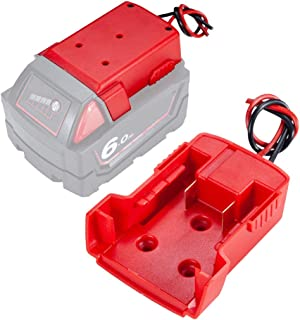 2 Pack Power wheels adaptor for Milwaukee M18 18v dock power connector 12 gauge robotics