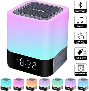 Foreita Night Light Bluetooth Speaker – Touch Control Bedside Lamp Night Light..