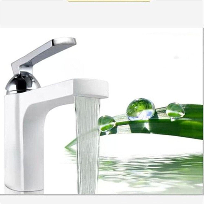 Lalaky Waschtischarmaturen Wasserhahn Waschbecken Spültisch Küchenarmatur Spültischarmatur Spülbecken Mischbatterie Waschtischarmatur Vollkupfer-Einhandlack Anti-Oxidierend Warm Und Kaltwei