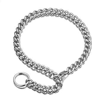 Thick Heavy Chain Choker with Drop Chain (0.4 Inch Width Silver Collar Chain for Women with Tail), Punk Rock Stainless Steel Link, Sexy Pendant Xxxtentacion, 18-30 Inch