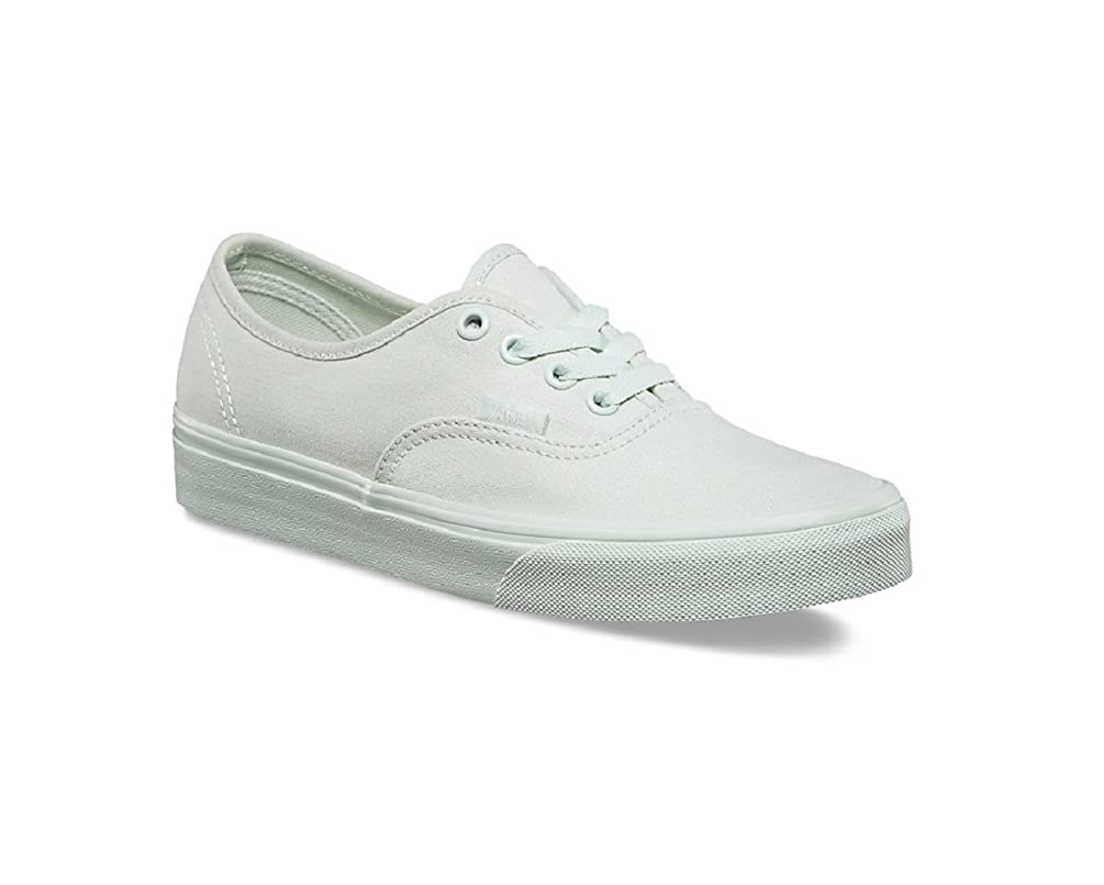 Vans Kid's Authentic (Mono Canvas) Milky Green Skateboarding Shoes VN0A38H3OXV