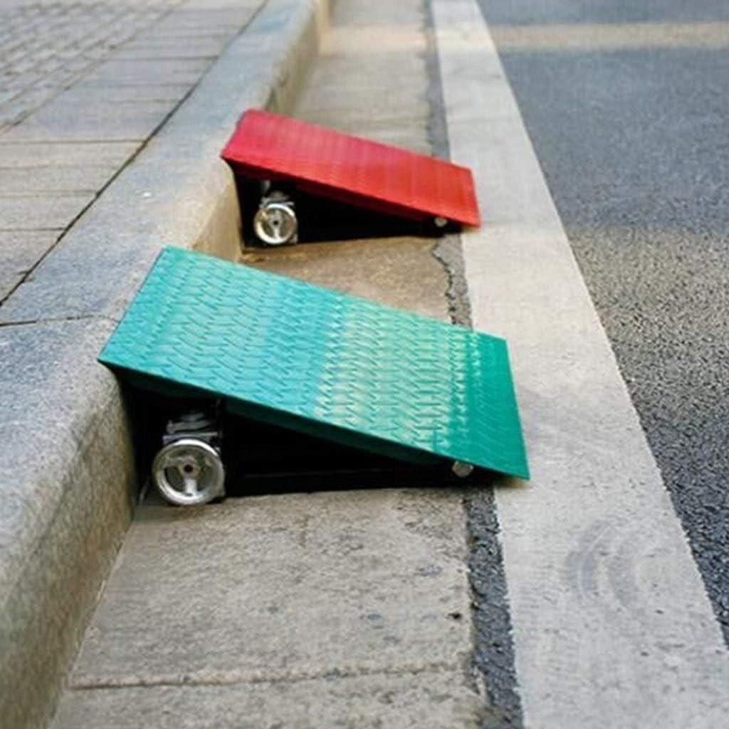Color : Green, Size : 40 * 30 * 12~20CM Rampes de levage rampe de voiture durable robuste rampe de service multi-fonctionnelle de rampe de mont/ée de v/éhicule ext/érieur rampes multicolores