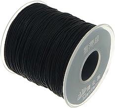 My-Bead 90m Nylonband Kordel 1mm schwarz wasserfest Nylonschnur Top Qualität Schmuckherstellung basteln DIY Grundpreis 0.08 Cent je Meter