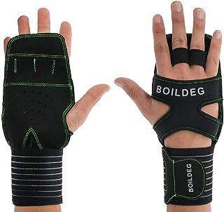 Garden gloves Sports Wrist Protector Indoor Training Dumbbell Fitness Gloves (Color : Orange, Size : L) (Color : Green, Si...