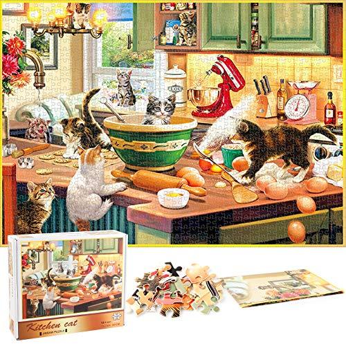 Puzzle Redondo 1000 Piezas,Puzzle,Rompecabezas Redondo,Puzzle Creativo,Puzzle Adultos (E)