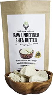 Pure Raw African Premium Shea Butter Helps Condition & Soften Skin by BodySense Naturals. Our Better Shea Butter can be used Alone or in DIY Lotion, Soap, Body Butters, Eczema & More! 1 lb (16 oz)