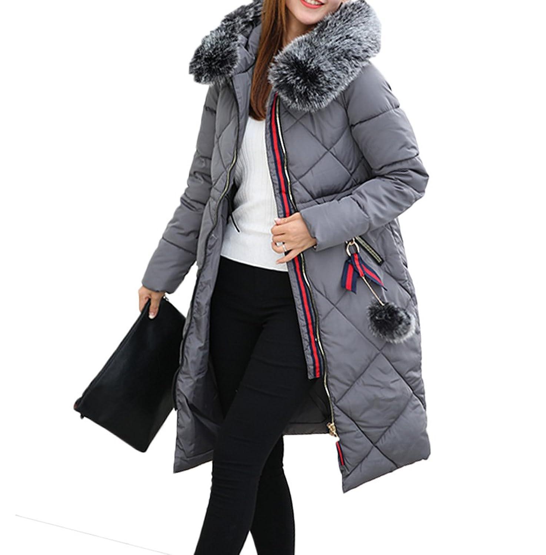 【もうほうきょう】 レディース綿入りのコート ロングコート 膝下コート 厚手コート ファーコート 冬コート ダウンコート
