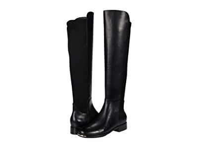 Cole Haan Grand Ambition Huntington Over-the-Knee Boot (Black Princess Leather/Stretch Textile) Women