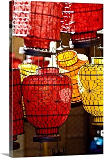 GREATBIGCANVAS Gallery-Wrapped Canvas China, Beijing, Decorative Lanterns in Market Place by Ray Laskowitz 12