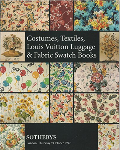 Costumes, Textiles, Louis Vuitton Luggage & Fabric Swatch Books - Sotheby's London - 9 October 1997