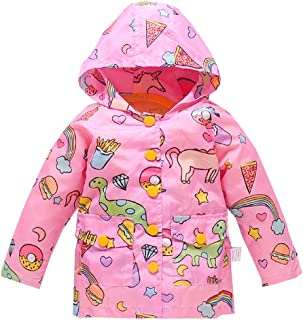 Kids Lightweight Jackets Hooded Windbreaker for Baby Girls Boys Rain Coat with Mesh Liner