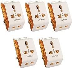 Hi-PLASST 3Pin Angular Travel Plug Universal Multiplug(Pack of 5pcs)