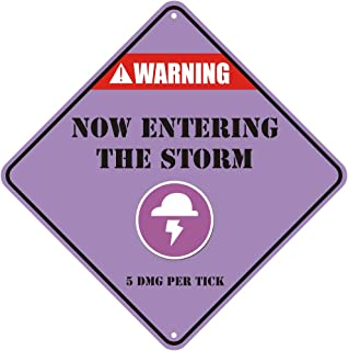 Geeky Innovations Warning Now Entering The Storm Gaming Novelty Sign