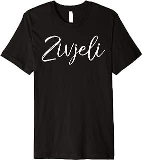 Mens Cheers Drinking Gift Croatian Quote for Women Cute Zivjeli Premium T-Shirt