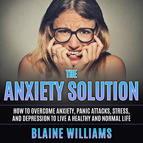 The Anxiety Solution audiobook cover art