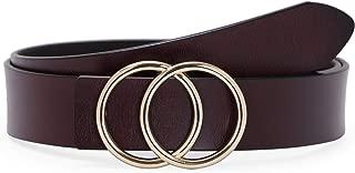 Best brown belt gold buckle women's Reviews