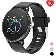 Smart Watches for Men, Smart Fitness Watch with Heart Rate Monitor Pedometer Step Counter for...