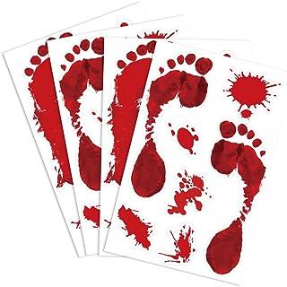 KUUQA 4 stuks bige voetafdruk klampt horror PVC stickers voor Halloween decoraties
