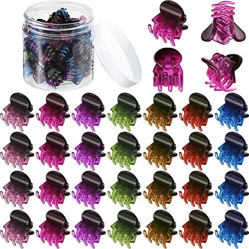 100 Stücke Mini Haarklammer Kunststoff Haarklammern Nadel Klemmen mit Einer Box Kleine Haarklammern für Mädchen und Damen (Mehrfarbig)