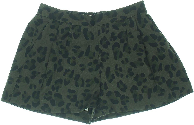 Essentiel Womens Kossivi Animal Print Pleated Dress Shorts Green 40