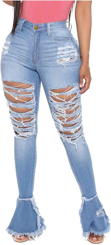Women's San Jose Mall Casual Pants Fashion Solid Regular discount Waist Button Pocket Jean High