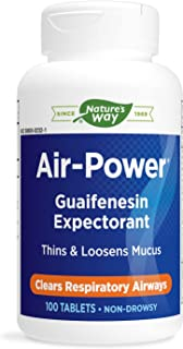 Enzymatic Therapy Air-Power Guaifenesin Expectorant 100 Tablets
