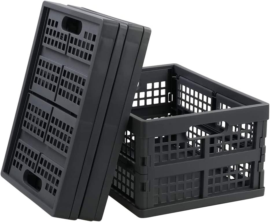 Gloreen 16 Quart Folding Crate Collapsible Storage Al sold out. Basket Fixed price for sale Grey
