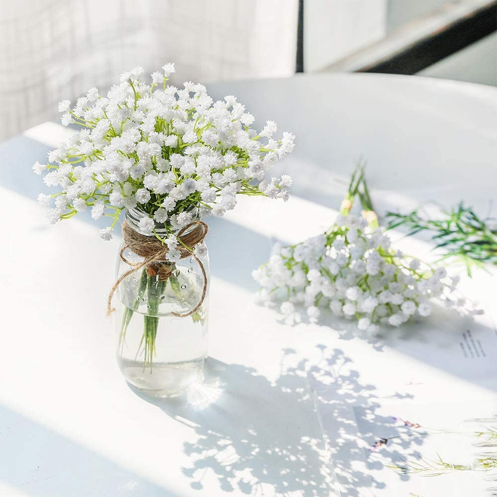 1 Piece White Babies Breath Artificial D Ranking TOP11 Nippon regular agency Gypsophila Fake Flowers