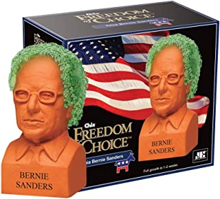Chia Pet Bernie Sanders, Decorative Pottery Planter, Freedom of Choice, Easy To Do and Fun To Grow, Novelty Gift, Perfect For Any Occasion