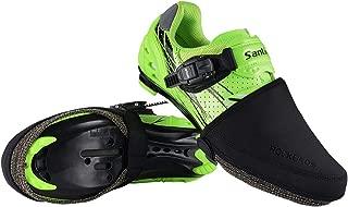RockBros Cycling Bike Shoe Toe Cover Warmer Protector Winter Thermal Black 1 Pair for Men Women