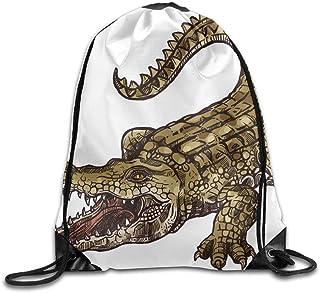 Large Weekender Carry-on Crocodile Hunt in Wild Ambesonne Animal Gym Bag
