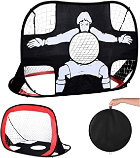 wishom Portable Kids Soccer Net,Pop Up Foldable Soccer...