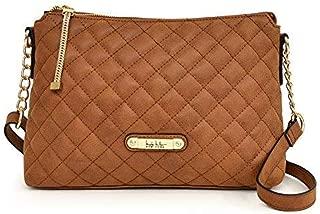 Nicole Miller New York Lena Quilted TZ Crossbody Handbag, Saddle, One Size