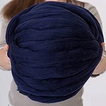 Giant Wool Yarn Chunky Merino Arm Knitting Super Soft Wool Yarn Bulky Wool Roving Navy 8 lbs