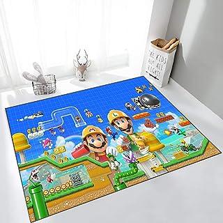 GOOCO Tapis Super Mario pour Salon Chambre à Coucher Facile à Nettoyer pour Chambre d'enfant De Sol Enfants Chambre Tapis ...