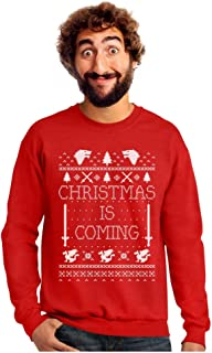 Tstars - Christmas is Coming Ugly Christmas Sweater Sweatshirt